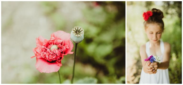 Fleurs comme un couple allant se marier